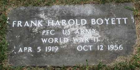 BOYETT (VETERAN WWII), FRANK HAROLD - Perry County, Arkansas | FRANK HAROLD BOYETT (VETERAN WWII) - Arkansas Gravestone Photos