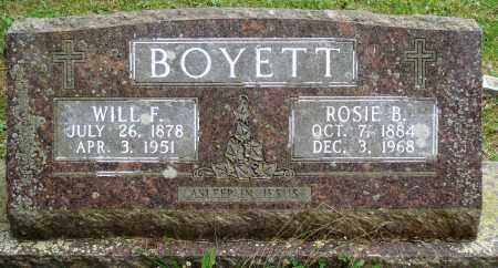 BOYETT, WILL F - Perry County, Arkansas | WILL F BOYETT - Arkansas Gravestone Photos