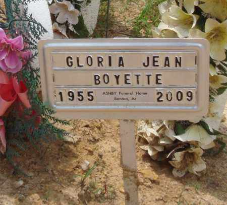 BOYETTE, GLORIA JEAN - Perry County, Arkansas   GLORIA JEAN BOYETTE - Arkansas Gravestone Photos