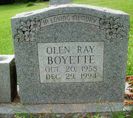 BOYETTE, OLEN RAY - Perry County, Arkansas | OLEN RAY BOYETTE - Arkansas Gravestone Photos