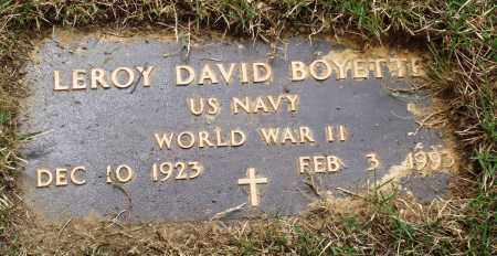 BOYETTE (VETERAN WWII), LEROY DAVID - Perry County, Arkansas | LEROY DAVID BOYETTE (VETERAN WWII) - Arkansas Gravestone Photos
