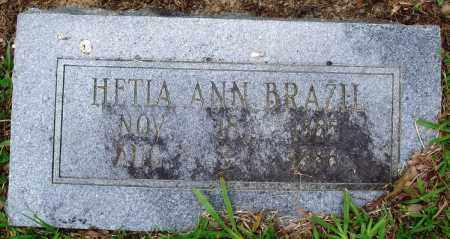 BRAZIL, HETIA ANN - Perry County, Arkansas | HETIA ANN BRAZIL - Arkansas Gravestone Photos