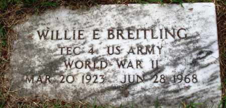 BREITLING (VETERAN WWII), WILLIE E - Perry County, Arkansas | WILLIE E BREITLING (VETERAN WWII) - Arkansas Gravestone Photos