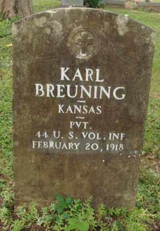 BREUNING (VETERAN), KARL - Perry County, Arkansas | KARL BREUNING (VETERAN) - Arkansas Gravestone Photos