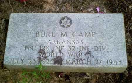 CAMP  (VETERAN WWII), BURL M. - Perry County, Arkansas | BURL M. CAMP  (VETERAN WWII) - Arkansas Gravestone Photos