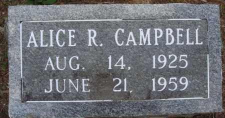 CAMPBELL, ALICE R - Perry County, Arkansas | ALICE R CAMPBELL - Arkansas Gravestone Photos
