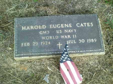 CATES  (VETERAN WWII), HAROLD EUGENE - Perry County, Arkansas | HAROLD EUGENE CATES  (VETERAN WWII) - Arkansas Gravestone Photos