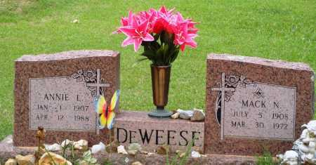 DEWEESE, MACK N - Perry County, Arkansas | MACK N DEWEESE - Arkansas Gravestone Photos