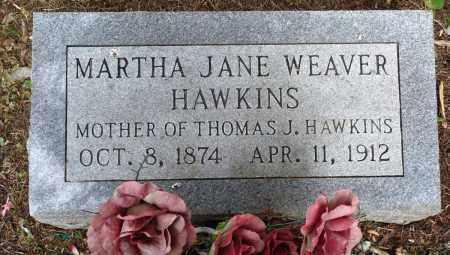 WEAVER HAWKINS, MARTHA JANE - Perry County, Arkansas | MARTHA JANE WEAVER HAWKINS - Arkansas Gravestone Photos