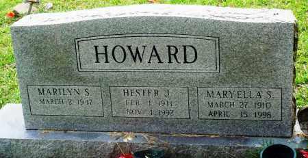 HOWARD, MARY ELLA S - Perry County, Arkansas | MARY ELLA S HOWARD - Arkansas Gravestone Photos