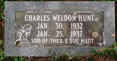 HUNT, CHARLES WELDON - Perry County, Arkansas | CHARLES WELDON HUNT - Arkansas Gravestone Photos
