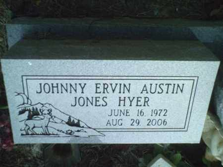 HYER, JOHN ERVIN AUSTIN JONES - Perry County, Arkansas | JOHN ERVIN AUSTIN JONES HYER - Arkansas Gravestone Photos