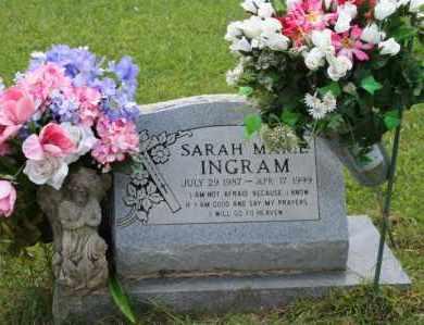 INGRAHAM, SARAH MARIE - Perry County, Arkansas | SARAH MARIE INGRAHAM - Arkansas Gravestone Photos