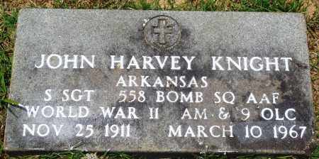 KNIGHT (VETERAN WWII), JOHN HARVEY - Perry County, Arkansas | JOHN HARVEY KNIGHT (VETERAN WWII) - Arkansas Gravestone Photos