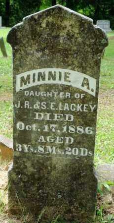 LACKEY, MINNIE A - Perry County, Arkansas | MINNIE A LACKEY - Arkansas Gravestone Photos