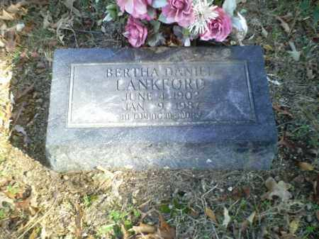 DANIEL LANKFORD, BERTHA - Perry County, Arkansas | BERTHA DANIEL LANKFORD - Arkansas Gravestone Photos