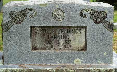 LANNING, ARTHUR FREDRICK - Perry County, Arkansas | ARTHUR FREDRICK LANNING - Arkansas Gravestone Photos