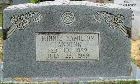 HAMILTON LANNING, MINNIE - Perry County, Arkansas | MINNIE HAMILTON LANNING - Arkansas Gravestone Photos