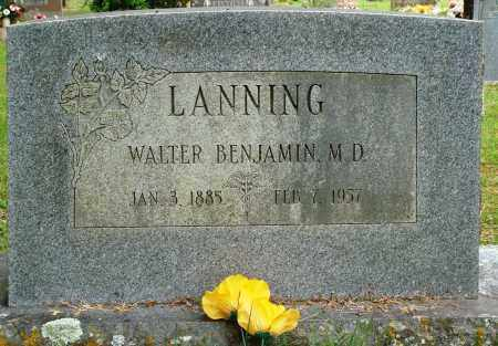 LANNING, MD, WALTER BENJAMIN - Perry County, Arkansas | WALTER BENJAMIN LANNING, MD - Arkansas Gravestone Photos