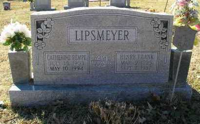 LIPSMEYER, HENRY FRANK - Perry County, Arkansas | HENRY FRANK LIPSMEYER - Arkansas Gravestone Photos