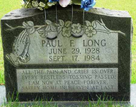 LONG, PAUL F - Perry County, Arkansas | PAUL F LONG - Arkansas Gravestone Photos