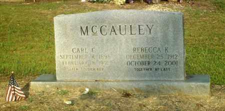 MCCAULEY, REBECCA K. - Perry County, Arkansas | REBECCA K. MCCAULEY - Arkansas Gravestone Photos