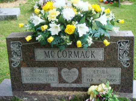 MCCORMACK, CLAUD - Perry County, Arkansas | CLAUD MCCORMACK - Arkansas Gravestone Photos