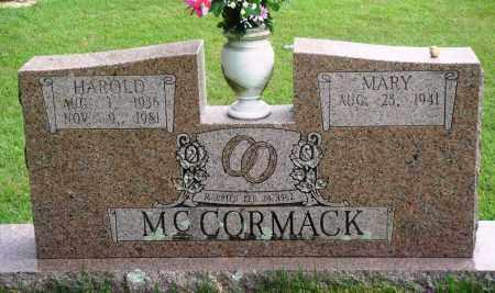 MCCORMACK, HAROLD - Perry County, Arkansas | HAROLD MCCORMACK - Arkansas Gravestone Photos
