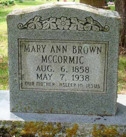 BROWN MCCORMIC, MARY ANN - Perry County, Arkansas | MARY ANN BROWN MCCORMIC - Arkansas Gravestone Photos