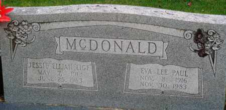 PAUL MCDONALD, EVA LEE - Perry County, Arkansas | EVA LEE PAUL MCDONALD - Arkansas Gravestone Photos