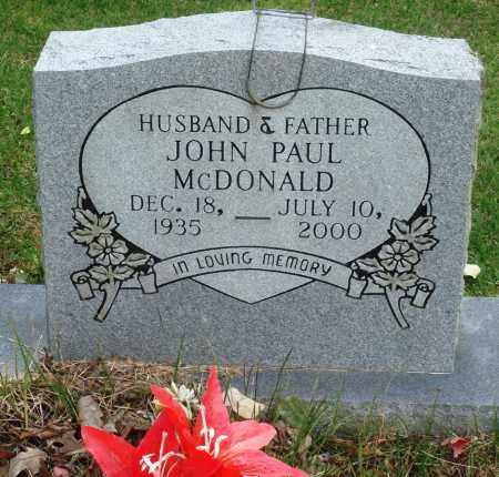 MCDONALD, JOHN PAUL - Perry County, Arkansas | JOHN PAUL MCDONALD - Arkansas Gravestone Photos