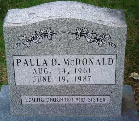MCDONALD, PAULA D - Perry County, Arkansas | PAULA D MCDONALD - Arkansas Gravestone Photos
