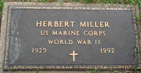 MILLER (VETERAN WWII), HERBERT - Perry County, Arkansas | HERBERT MILLER (VETERAN WWII) - Arkansas Gravestone Photos
