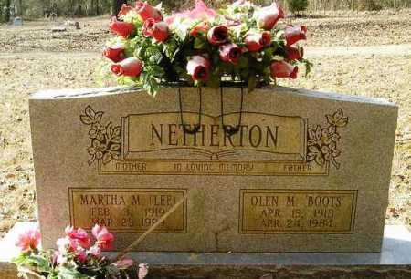 LEE NETHERTON, MARTHA M. - Perry County, Arkansas | MARTHA M. LEE NETHERTON - Arkansas Gravestone Photos