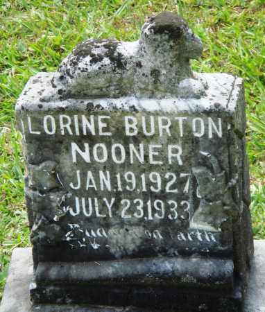 NOONER, LORINE BURTON - Perry County, Arkansas | LORINE BURTON NOONER - Arkansas Gravestone Photos