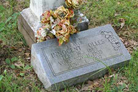 OLLES, INNOCENT - Perry County, Arkansas | INNOCENT OLLES - Arkansas Gravestone Photos