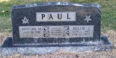 PAUL, HOWARD M. - Perry County, Arkansas | HOWARD M. PAUL - Arkansas Gravestone Photos