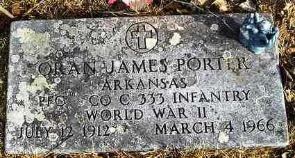PORTER  (VETERAN WWII), ORAN JAMES - Perry County, Arkansas | ORAN JAMES PORTER  (VETERAN WWII) - Arkansas Gravestone Photos