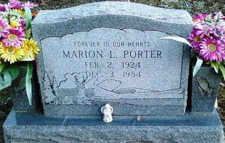 PORTER, MARION L. - Perry County, Arkansas | MARION L. PORTER - Arkansas Gravestone Photos