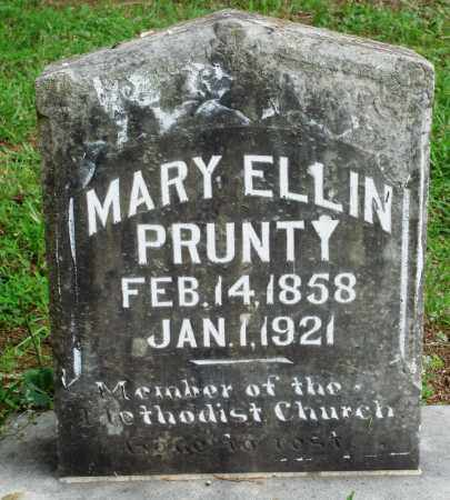 PRUNTY, MARY ELLIN - Perry County, Arkansas | MARY ELLIN PRUNTY - Arkansas Gravestone Photos