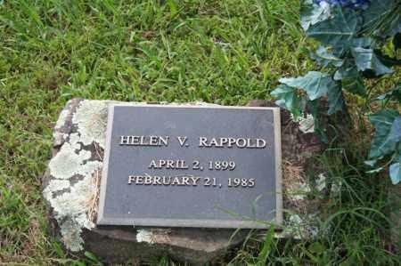 RAPPOLD, HELEN V. - Perry County, Arkansas | HELEN V. RAPPOLD - Arkansas Gravestone Photos