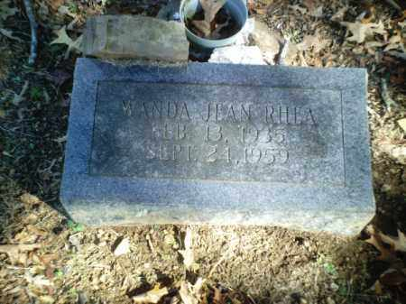 RHEA, WANDA JEAN - Perry County, Arkansas | WANDA JEAN RHEA - Arkansas Gravestone Photos