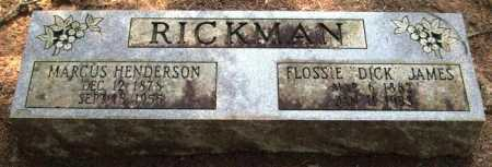"RICKMAN, FLOSSIE ""DICK"" - Perry County, Arkansas 
