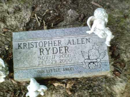 RYDER, KRISTOPHER ALLEN - Perry County, Arkansas | KRISTOPHER ALLEN RYDER - Arkansas Gravestone Photos
