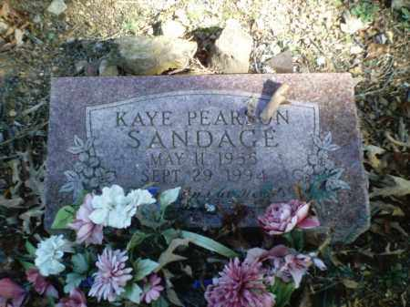 SANDAGE, KAYE - Perry County, Arkansas | KAYE SANDAGE - Arkansas Gravestone Photos
