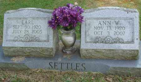 SETTLES, ANN W - Perry County, Arkansas | ANN W SETTLES - Arkansas Gravestone Photos