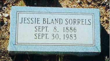 BLAND SORRELS, JESSIE - Perry County, Arkansas | JESSIE BLAND SORRELS - Arkansas Gravestone Photos