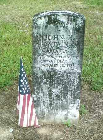 STAIN  (VETERAN), JOHN H. - Perry County, Arkansas | JOHN H. STAIN  (VETERAN) - Arkansas Gravestone Photos
