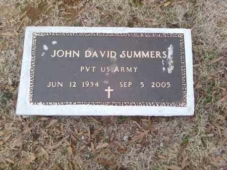 SUMMERS  (VETERAN), JOHN DAVID - Perry County, Arkansas | JOHN DAVID SUMMERS  (VETERAN) - Arkansas Gravestone Photos