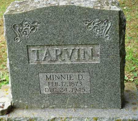 TARVIN, MINNIE D - Perry County, Arkansas | MINNIE D TARVIN - Arkansas Gravestone Photos